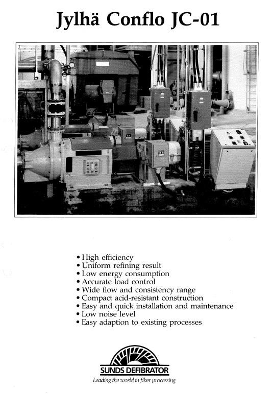 Brochure of conflo refiner jc 01