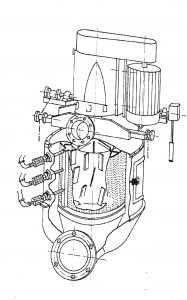 sectional drawing of a Hett Separator