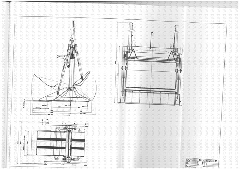 schematic drawing of a de pecker reel guillotine